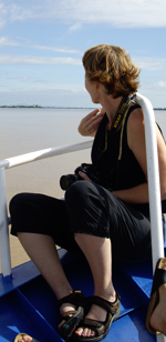 Going up the Tonle Sap river, Cambodia (2009)