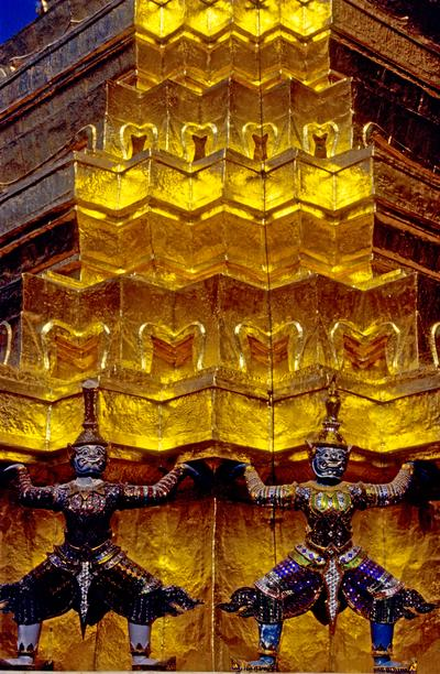 Demons at Wat Phra Keaw, the Temple of the Emerald Buddha (1997) Photo (c) Karen Abrahamson