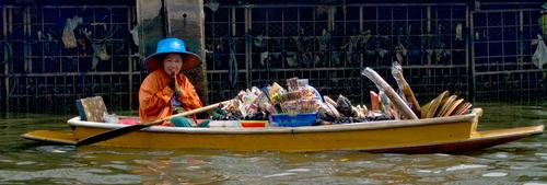 Floating vendor, Chayo Phraya River (2008) Photo (c) Karen Abrahamson