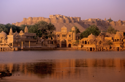 Jaisalmer Ghats in the morning.