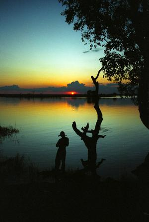 Sunset over the Chobe River, Botswana, (1994) Photo (c) Karen Abrahamson