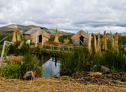 A village of the Isla Uros, Puno, Peru (2011) Photo (c) Karen Abrahamson