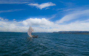 FishingSailboat on Lake Titicaca, (2011) Photo (c) Karen Abrahamson