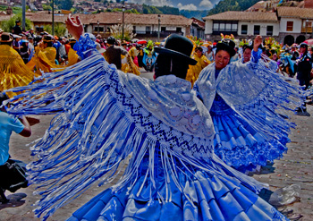 Women in the moment of Cusco Parade(2011) Photo (c) Karen Abrahamson