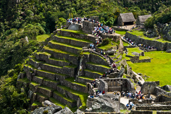 The masses at the ancient ruins of Machu Picchu (2011) Photo (c) Karen Abrahamson